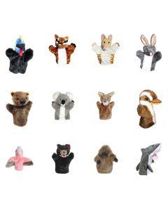Aussie Animal Hand Puppets Set of 12