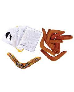 Indigenous Paint-a-Boomerang Set of 10 (returning 45cm)