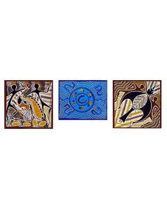 Emu Dreaming, Fish Billabong and Willie Wagtail Puzzle Set