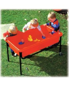 Gigantos Large Red Sand & Water Tray, with Frame and Lid