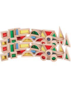 Small Light and Colour Blocks 48pcs