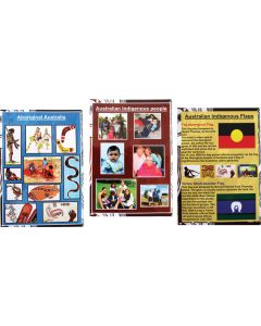 Three Indigenous A3 Laminated Posters