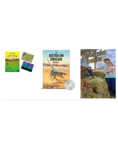 A Frog's Life Cycle, Australian Dinosaur and Let's Learn About Mums and Babies Books Set