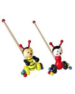 Pushalong Bee and Ladybird Set of 2