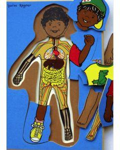 Aboriginal Boy 4 Layer Puzzle 25pcs
