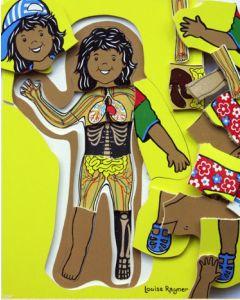 Aboriginal Girl 4 Layer Puzzle 25pcs