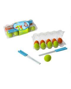 Rubber Eggs & Chopsticks Race