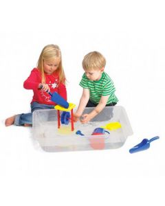 Clear Sand & Water Playtrays Set of 4