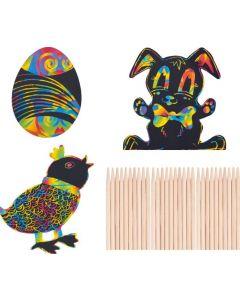 Scratch Art Easter Shapes 30pcs